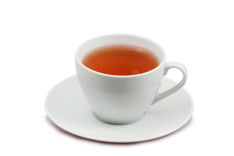 Kop thee die op wit wordt geïsoleerdh royalty-vrije stock foto
