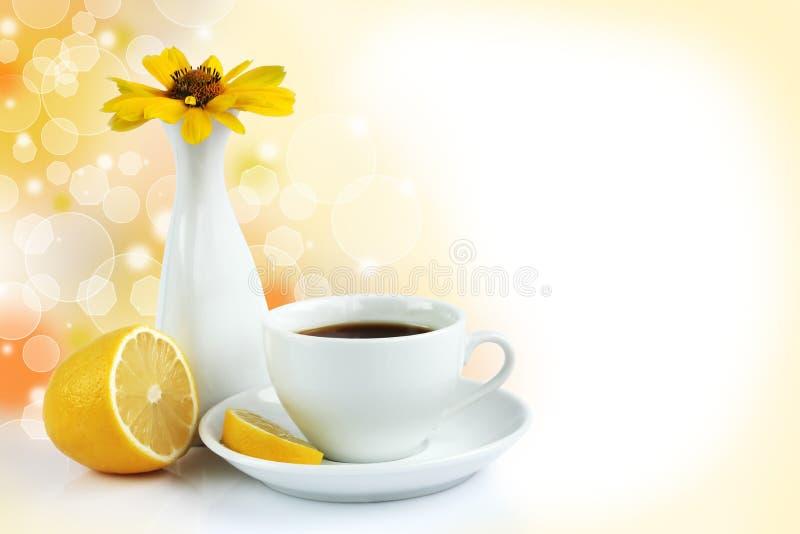 Kop thee met citroen royalty-vrije stock afbeeldingen