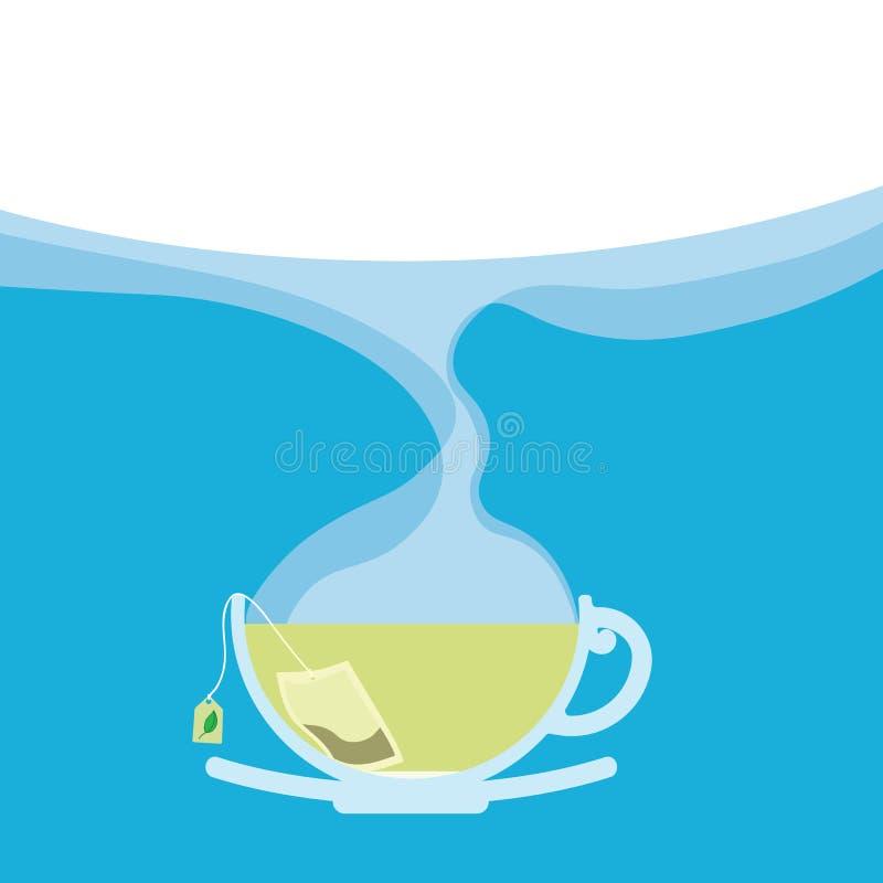 Kop thee met Exemplaarruimte royalty-vrije illustratie