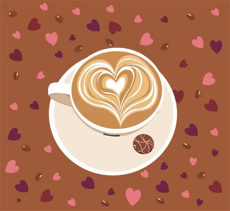 Kop van caffee latte royalty-vrije illustratie