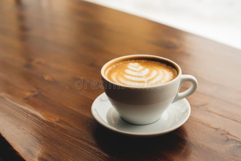 Kop van cappuccinoachtergrond stock fotografie