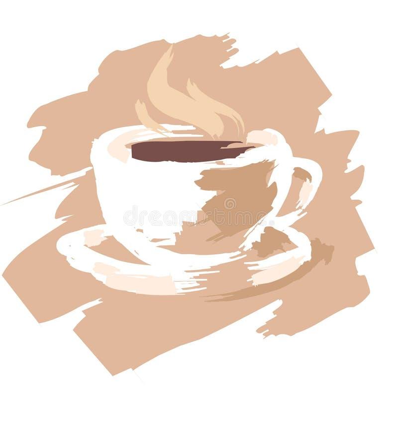 Kop van coffee_1 stock illustratie
