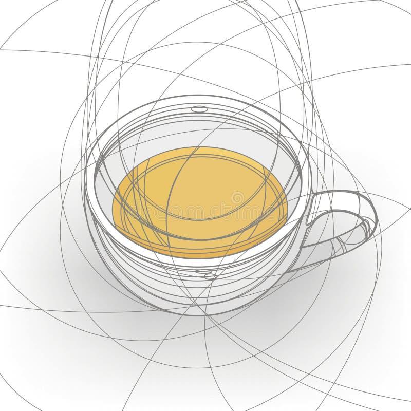 Kop van de thee vector illustratie