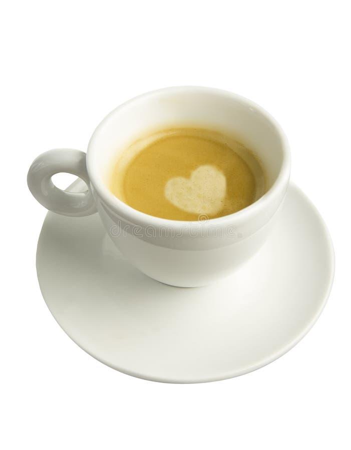 Kop van geïsoleerde espresso stock fotografie