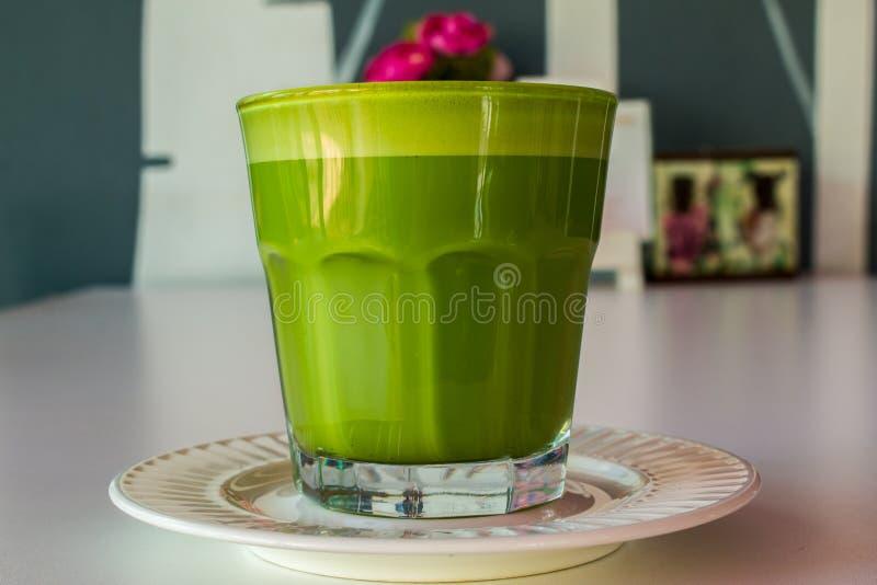 Kop van groene thee royalty-vrije stock foto