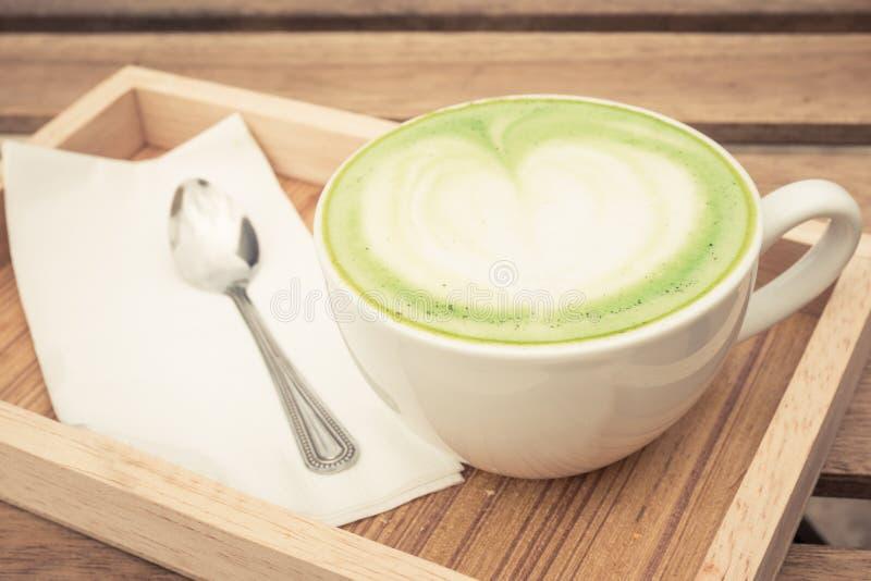Kop van groene thee royalty-vrije stock afbeelding