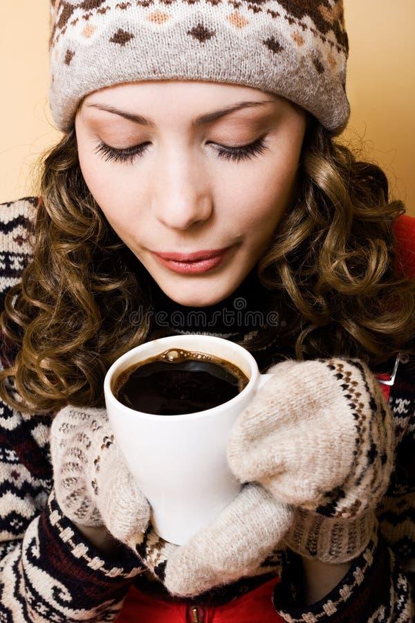 Kop van hete koffie royalty-vrije stock afbeelding