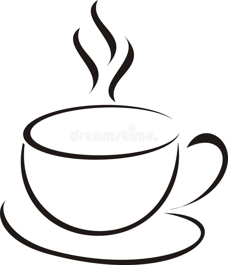 Kop van koffie royalty-vrije illustratie