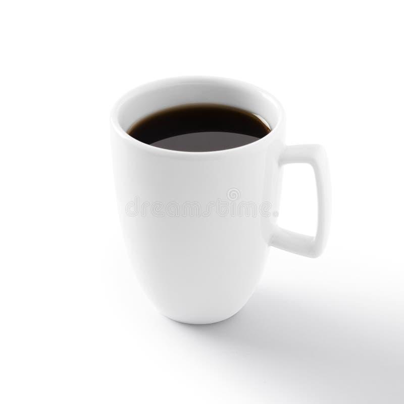 Kop van koffie die op wit wordt geïsoleerdt royalty-vrije stock foto