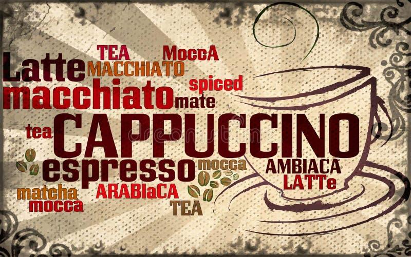 Kop van koffie die van typografie wordt gemaakt vector illustratie
