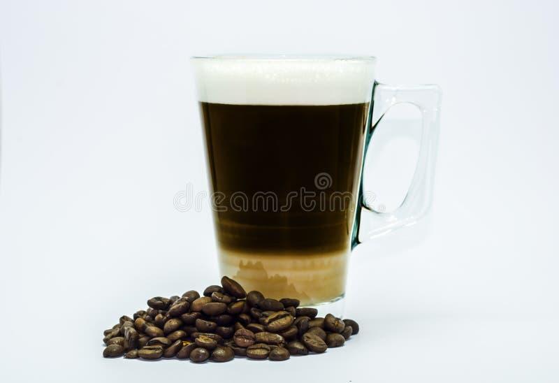 Kop van koffie, koffiebonen, arabica royalty-vrije stock fotografie