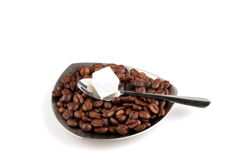 Download Kop Van Koffie Met Korrels En Suiker Stock Foto - Afbeelding bestaande uit bruin, ochtend: 10781850