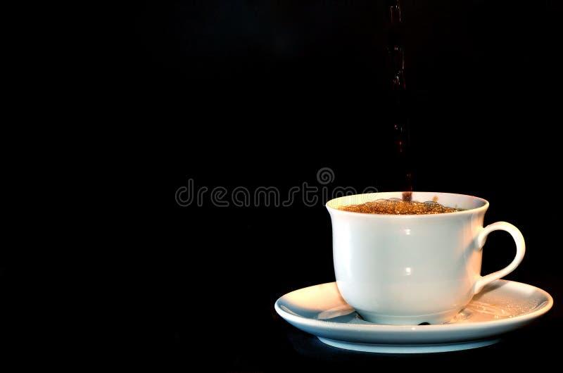 Kop van koffie met schuim royalty-vrije stock afbeeldingen