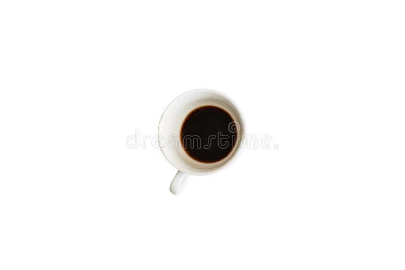 Kop van koffie op geïsoleerde achtergrond stock afbeelding