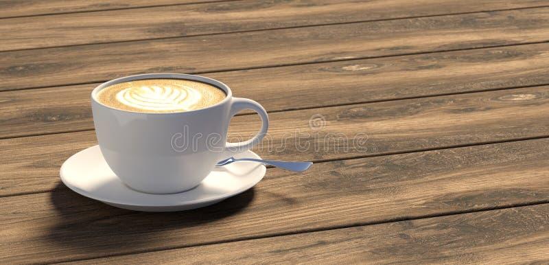 Kop van koffie op lijstbovenkant - Illustratie vector illustratie
