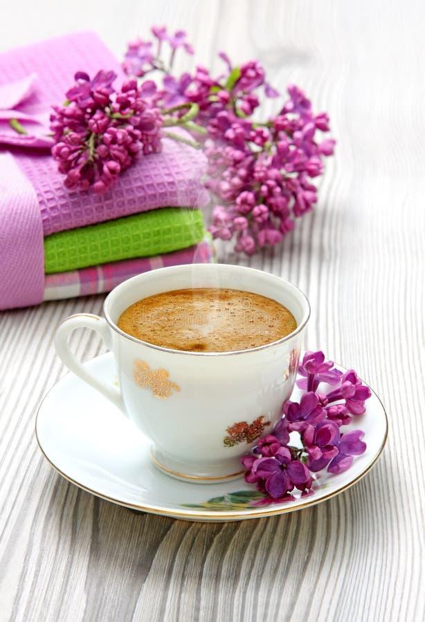 Kop van koffieespresso royalty-vrije stock afbeelding