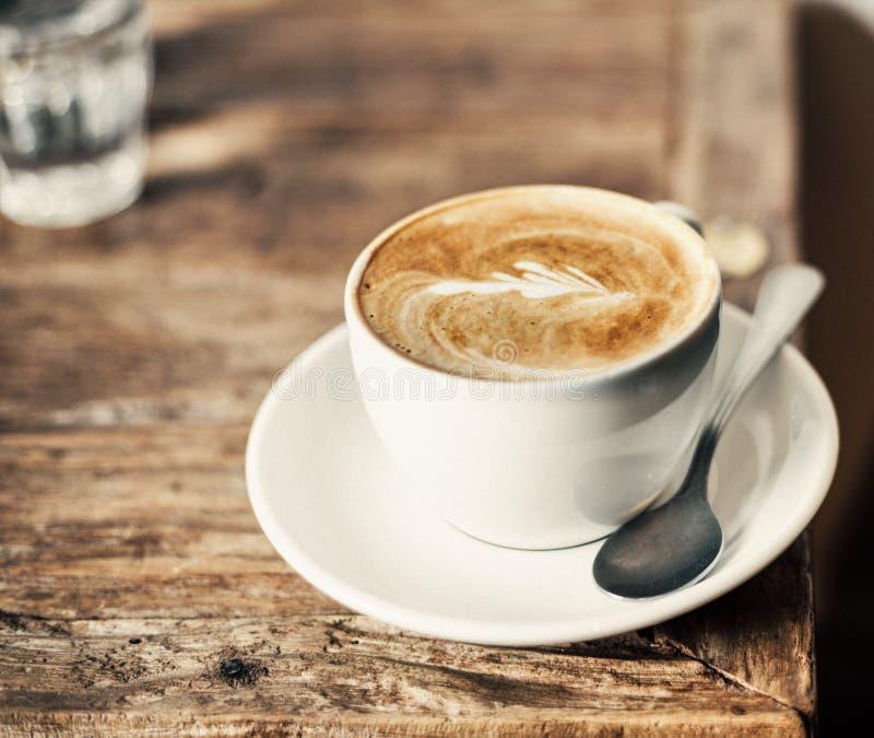 Kop van lattekoffie