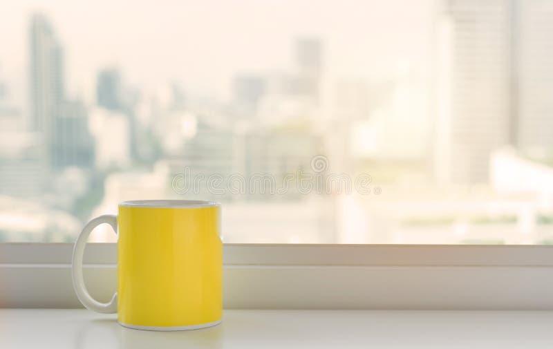 Kop van roze koffie royalty-vrije stock afbeelding