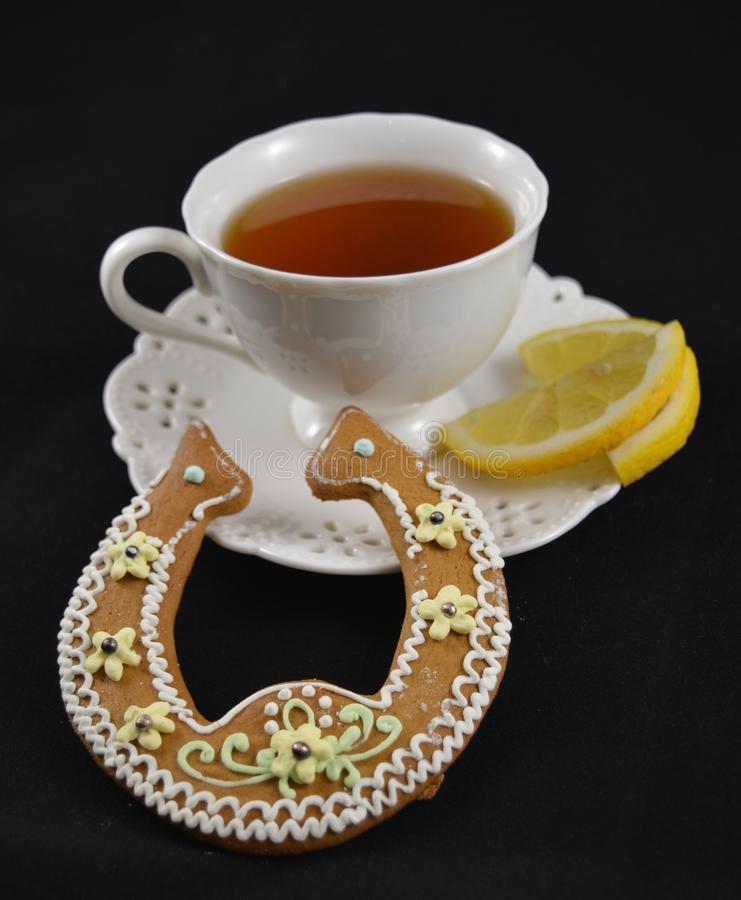 Kop van smakelijke thee stock afbeeldingen