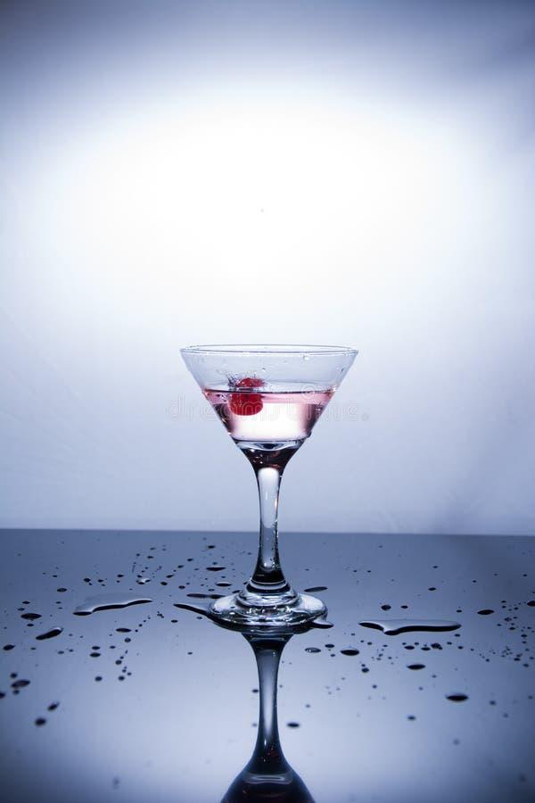 Kop van wodka op witte achtergrond royalty-vrije stock foto's