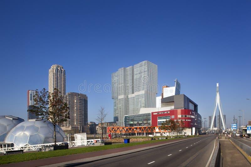 Kop van Zuid in Rotterdam lizenzfreies stockfoto