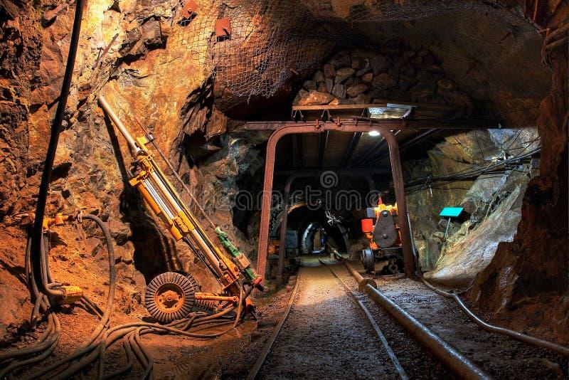 kopalni miedziany złocisty dziejowy srebro fotografia stock