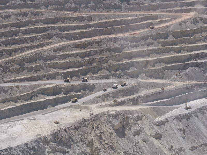 Kopalnia miedzi w Chile zdjęcia stock