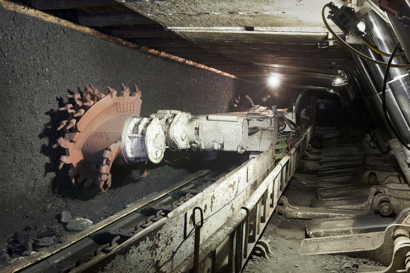 Kopalnia węgla ekskawator zdjęcie stock