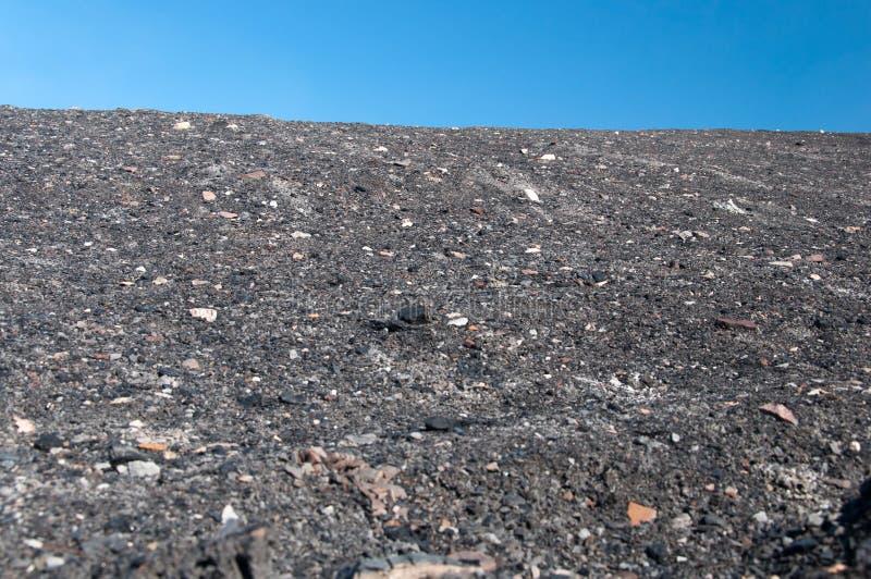 Kopalnia węgla odpady rozsypisko fotografia stock