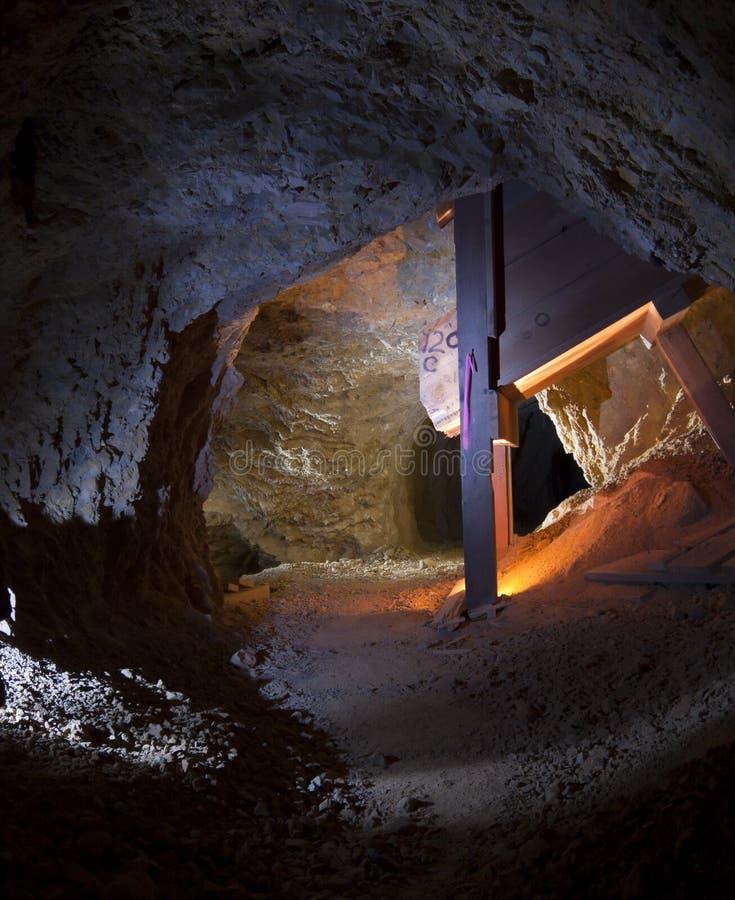 kopalnia złota tunel obraz stock