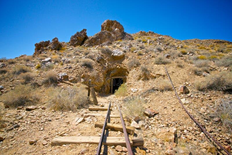 Kopalnia Złota w Śmiertelnej dolinie obraz stock