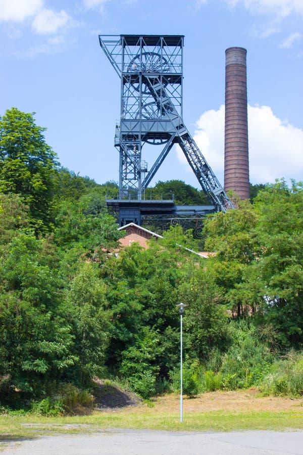 Kopalniany wierza dla czarnego coalmining - Landek 4 zdjęcie royalty free