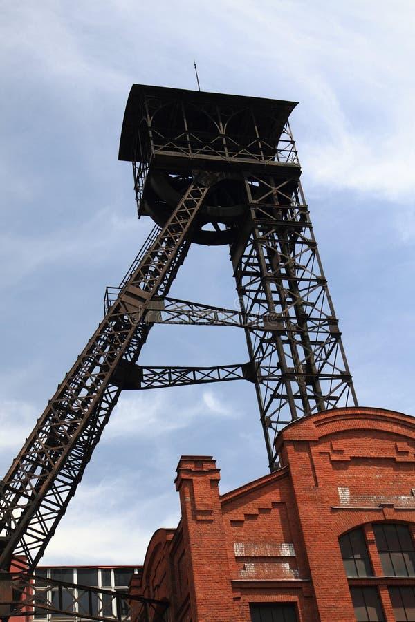 Kopalniany wierza od Ostrava zdjęcia stock