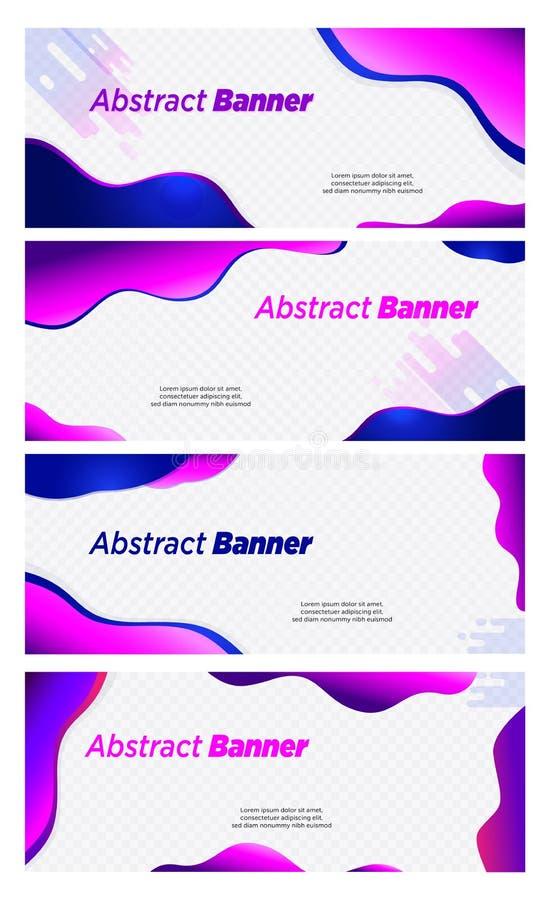 Kopbal van de het ontwerp vector violette en blauwe kleur van de banner de abstracte bel vector illustratie
