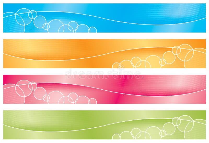 Kopballen/Banners - Brights vector illustratie