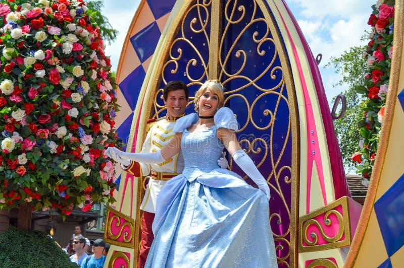 Kopciuszek od festiwalu fantazi parada obraz royalty free