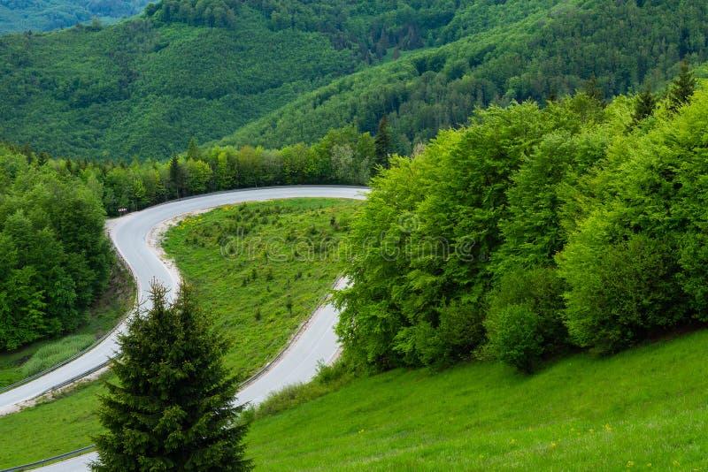 Kopec de Dobsinsky, paso de montaña, paisaje, naturaleza, punto de vista, bosque, Eslovaquia, Europa foto de archivo