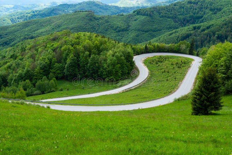 Kopec de Dobsinsky, paso de montaña, paisaje, naturaleza, punto de vista, bosque, Eslovaquia, Europa fotos de archivo