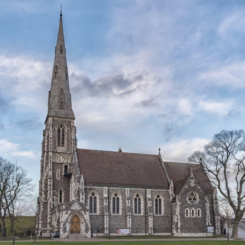 Kopenhaga świętego Albans kościół zdjęcia royalty free