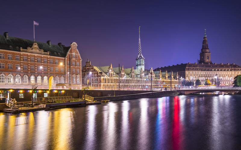 Kopenhaga Dani zdjęcie stock