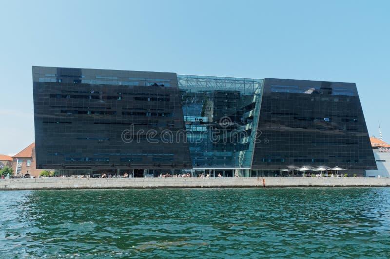 Kopenhaga, Dani duńska królewska biblioteka obrazy stock