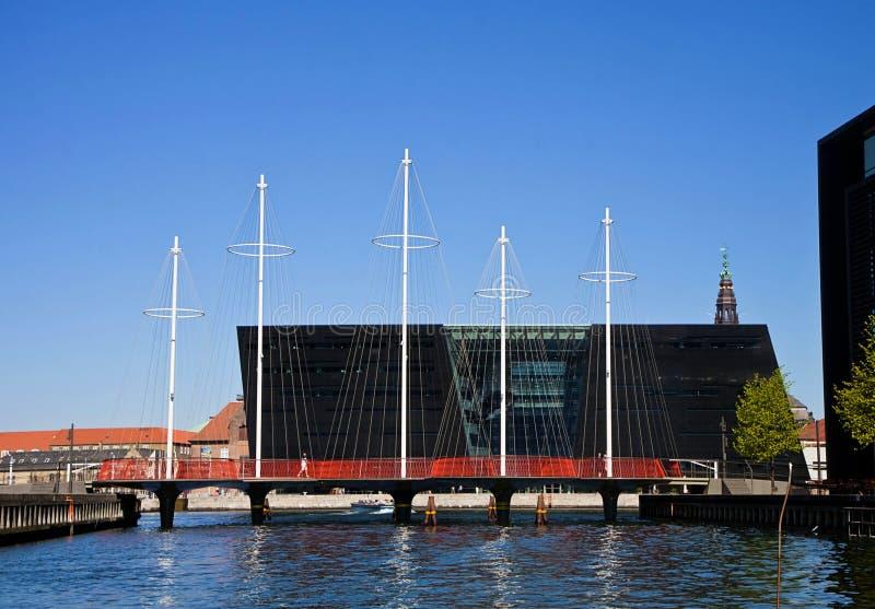 Kopenhaga Dani: okręgu most i Czarny diament fotografia stock