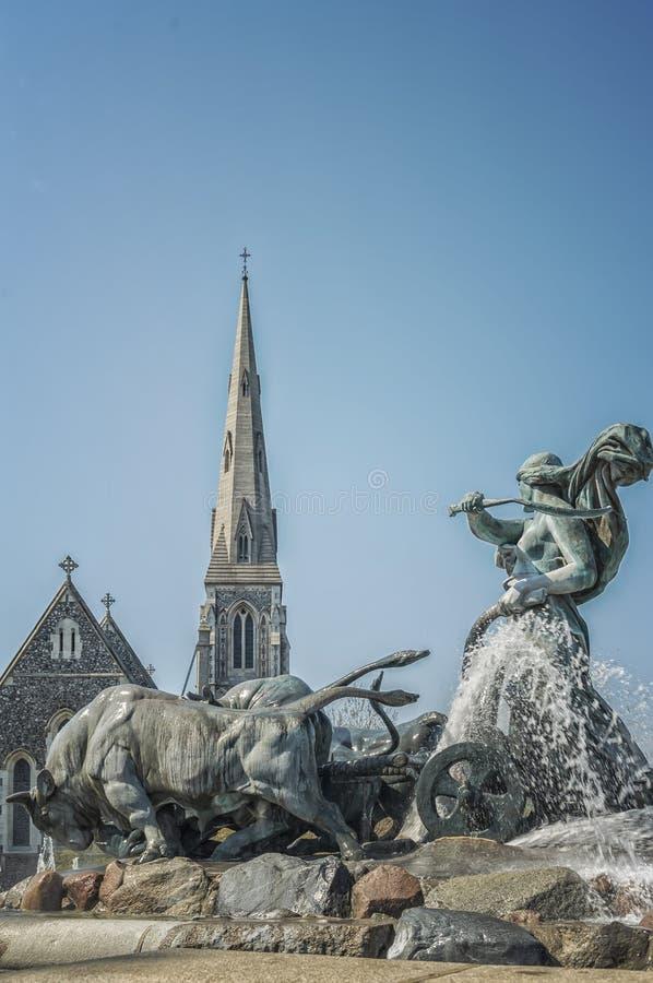 Kopenhaga Gefion fontanna obrazy stock