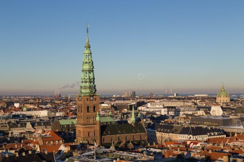 Kopenhaga linii horyzontu widok fotografia royalty free