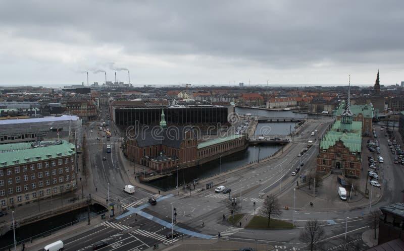 Kopenhaga pejzaż miejski obrazy royalty free