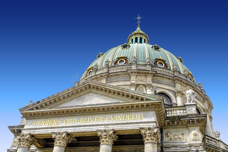Kopenhaga - rokokowy Ewangelicki Luthe Dani, Zealand region - obrazy royalty free