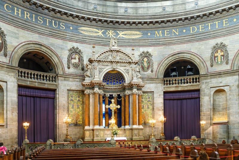 Kopenhaga - rokokowy Ewangelicki Luthe Dani, Zealand region - obrazy stock