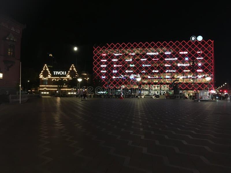 Kopenhaga urzędu miasta kwadrat zdjęcia royalty free
