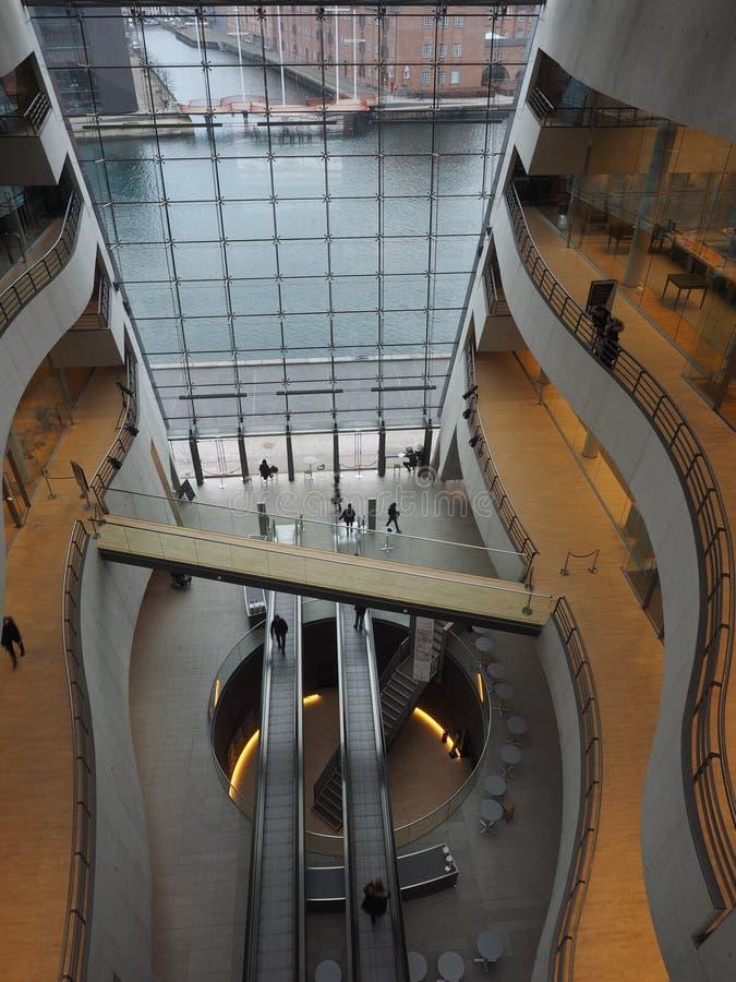 Kopenhagen-Bibliothek - der schwarze Diamant - stockfotos