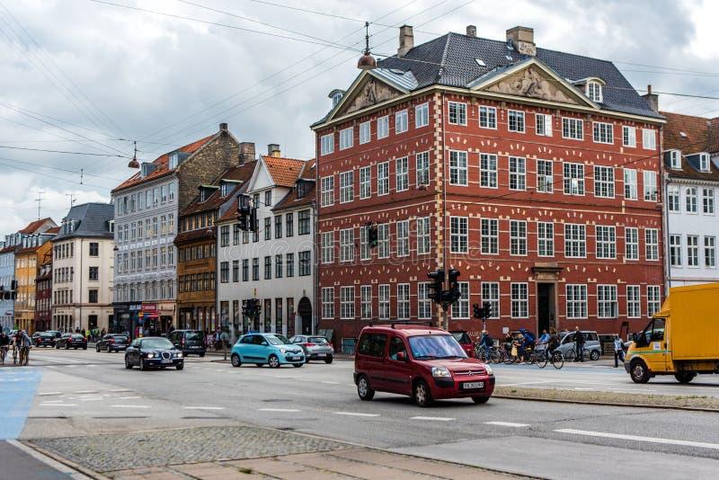KOPENHAGEN, DÄNEMARK - 25. AUGUST 2015: Kopenhagen, Dänemark cityscape lizenzfreie stockfotografie